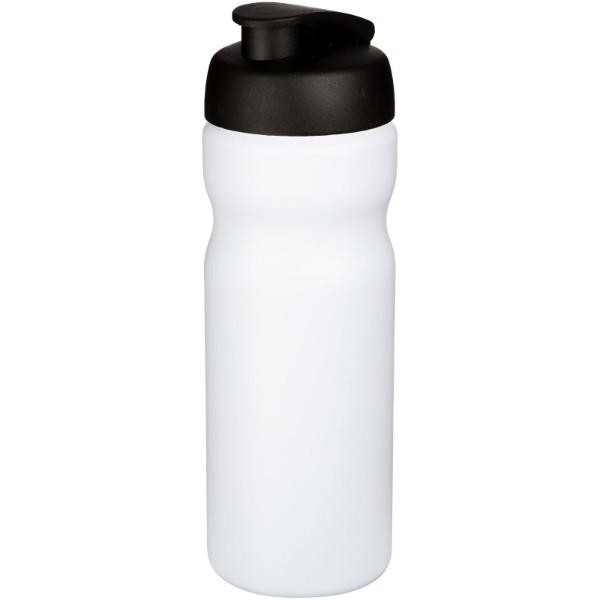 Baseline® Plus 650 ml Sportflasche mit Klappdeckel - Weiss / Schwarz