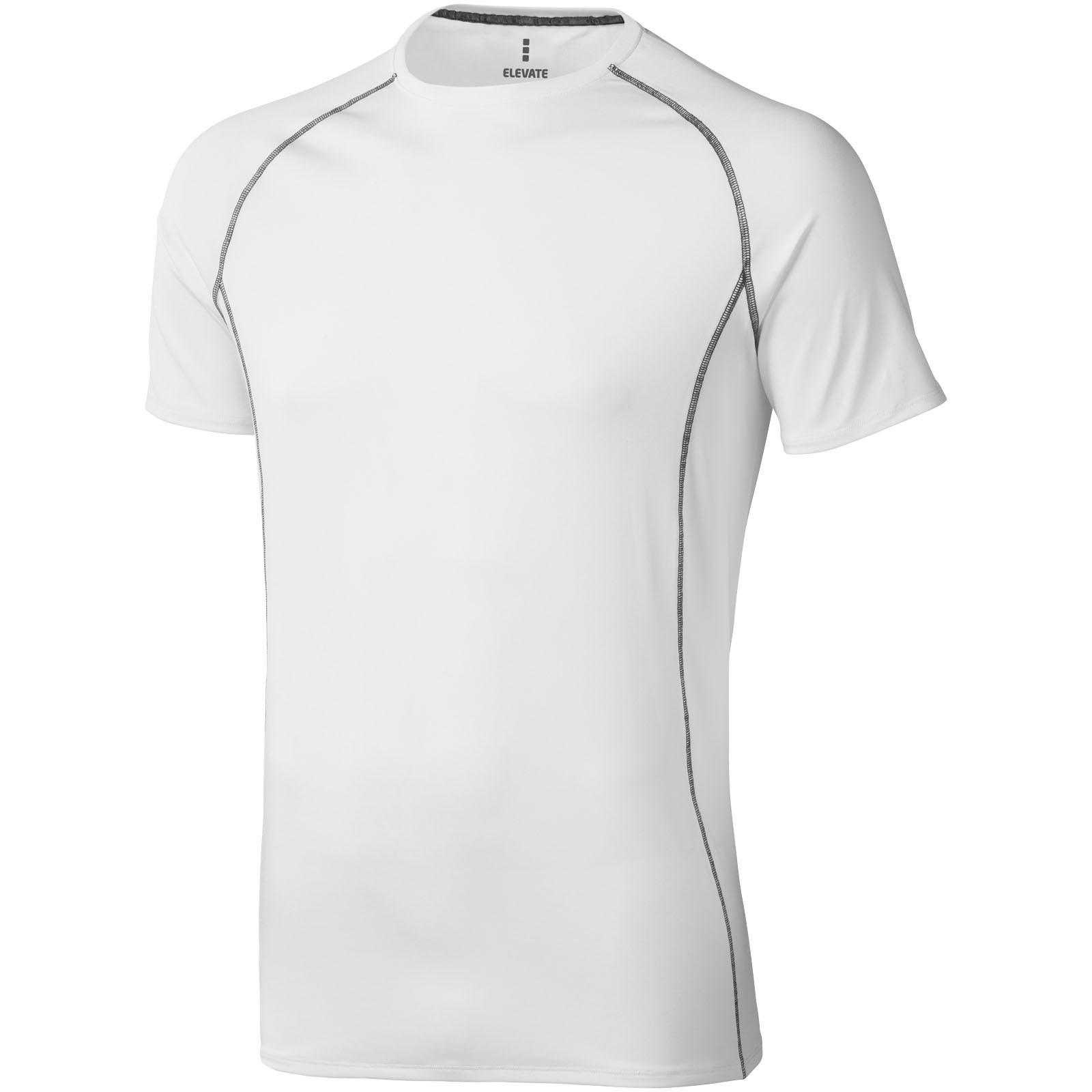 Pánské triko Kingston s krátkým rukávem, s povrchovou úpravo - White Solid / XXL