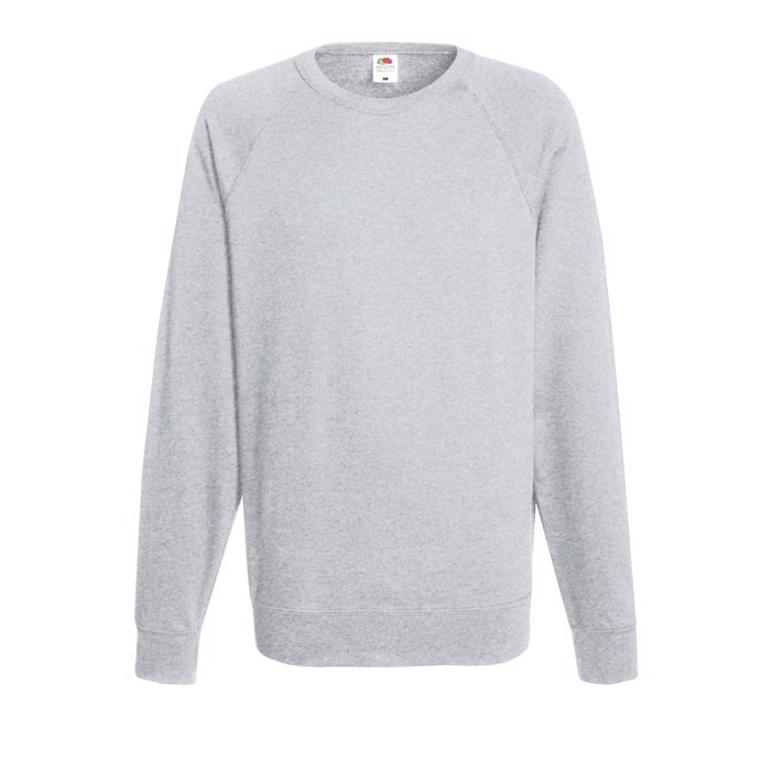 Lehká mikina Lightweight Raglan 62-138-0 - Grey Heather / XL