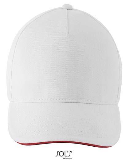 Unisex Contrast Three-Colour Cap Longchamp - White / One Size