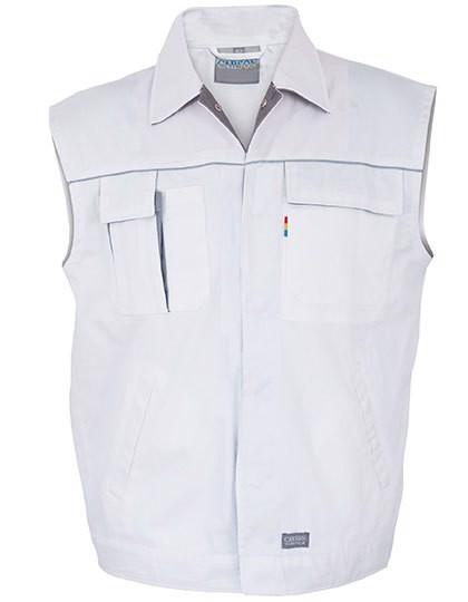 Contrast Work Vest - White / Grey / M