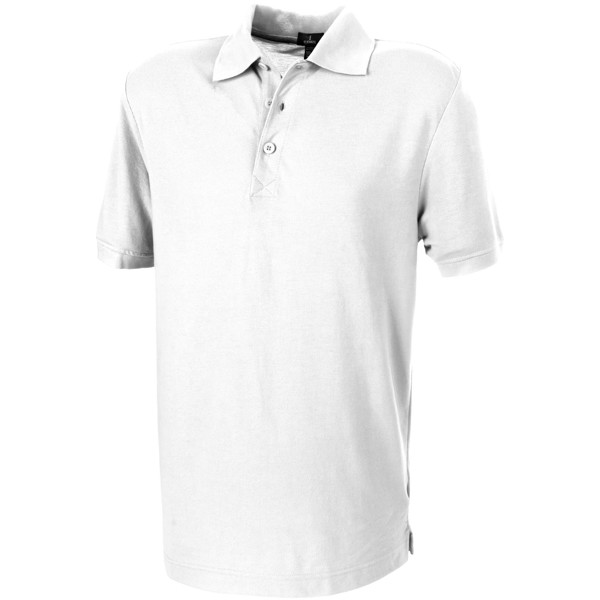 Crandall short sleeve men's polo - White / XS