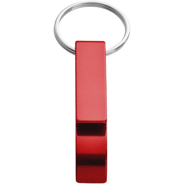 Klíčenkový otvírák lahví a konzerv Tao - Červená s efektem námrazy
