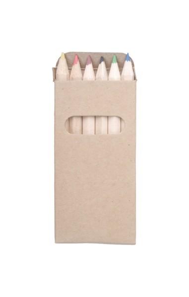 6-delni komplet barvnih svinčnikov Kitty - natural