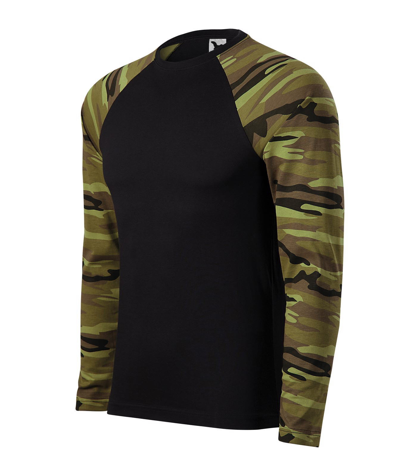T-shirt unisex Malfini Camouflage LS - Camouflage Green / XL