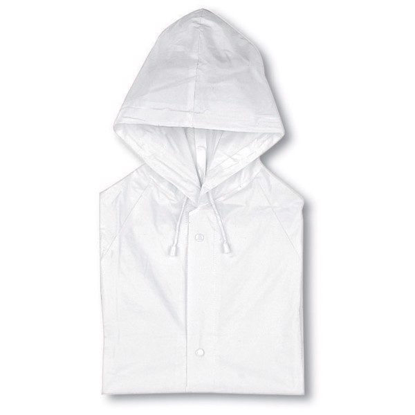 PVC raincoat with hood Blado - White