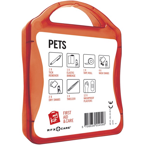 MyKit Pet First Aid Kit - Red