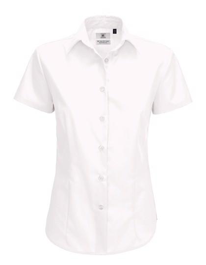 Poplin Shirt Smart Short Sleeve / Women - White / XL