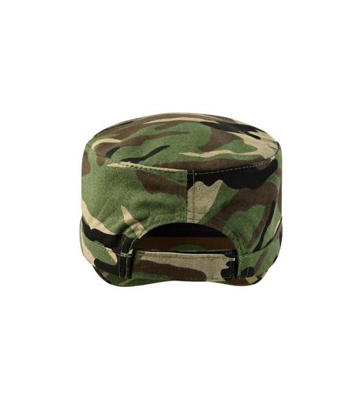 Čepice unisex Malfini Camo Latino - Camouflage Brown / nastavitelná