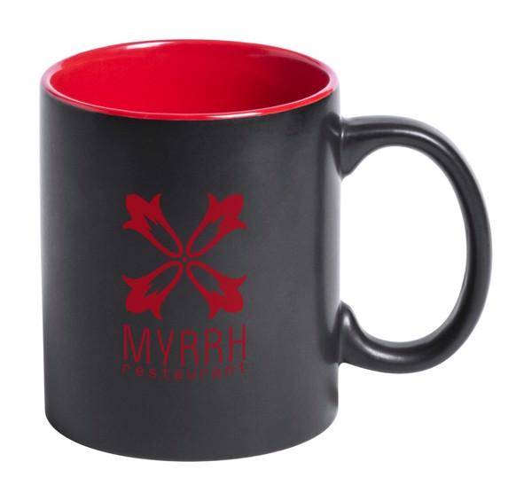 Cană Bafy - Negru / Roșu