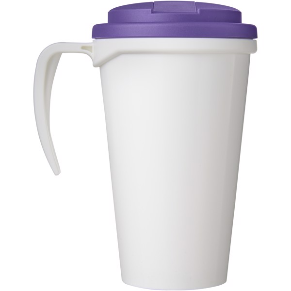 Brite-Americano Grande 350 ml mug with spill-proof lid - White / Purple