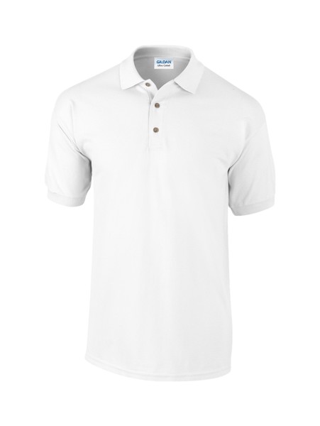 Pique Polo Shirt Ultra Cotton - White / XXL