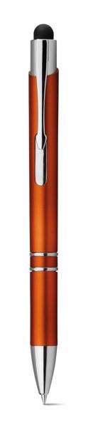 THEIA. Kuličkové pero s podsvíceným logem - Oranžová
