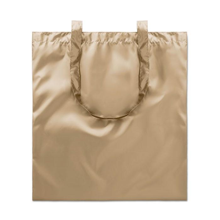 Błyszcząca torba na zakupy Tote New York - matowy złoty