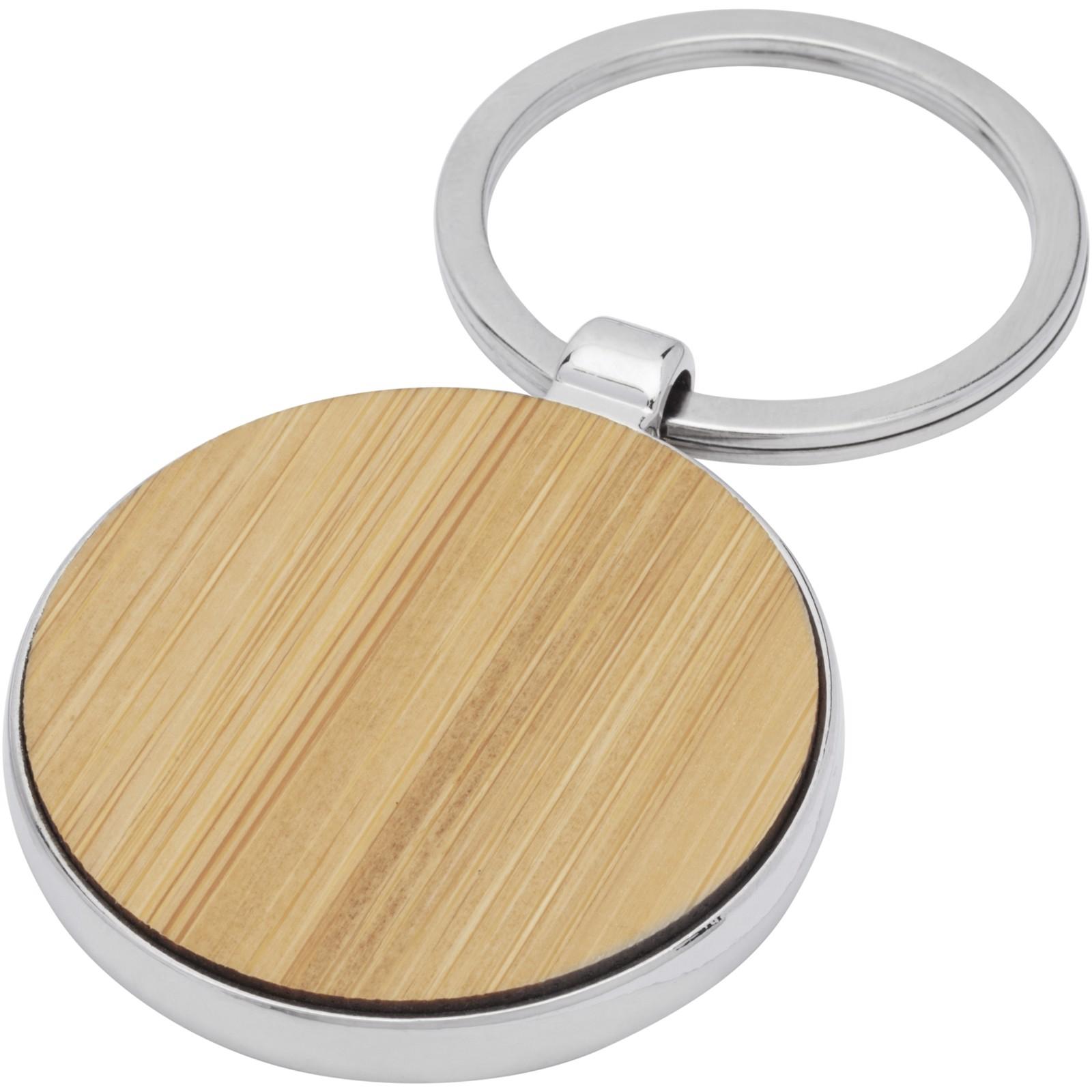 Nino bambusová kruhová klíčenka
