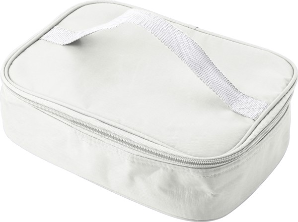 Plastic lunchbox in cooler bag - White