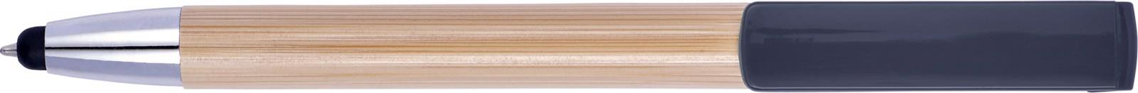 Bolígrafo de bambú y puntero táctil - Black