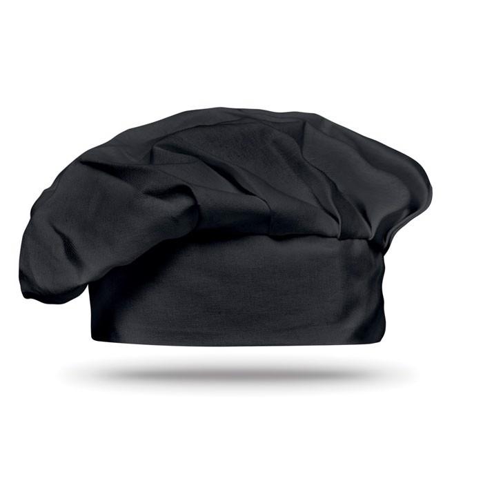 Cotton chef hat 130 gsm - Black