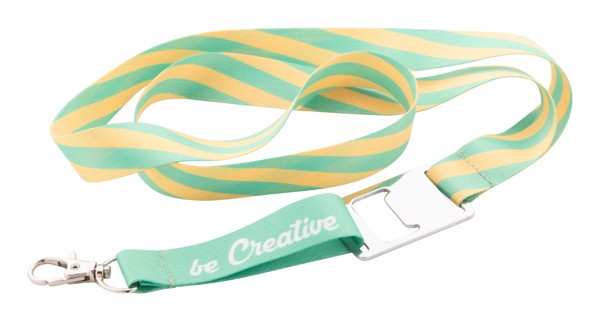 Custom Sublimation Lanyard Subyard Drink - White / Silver