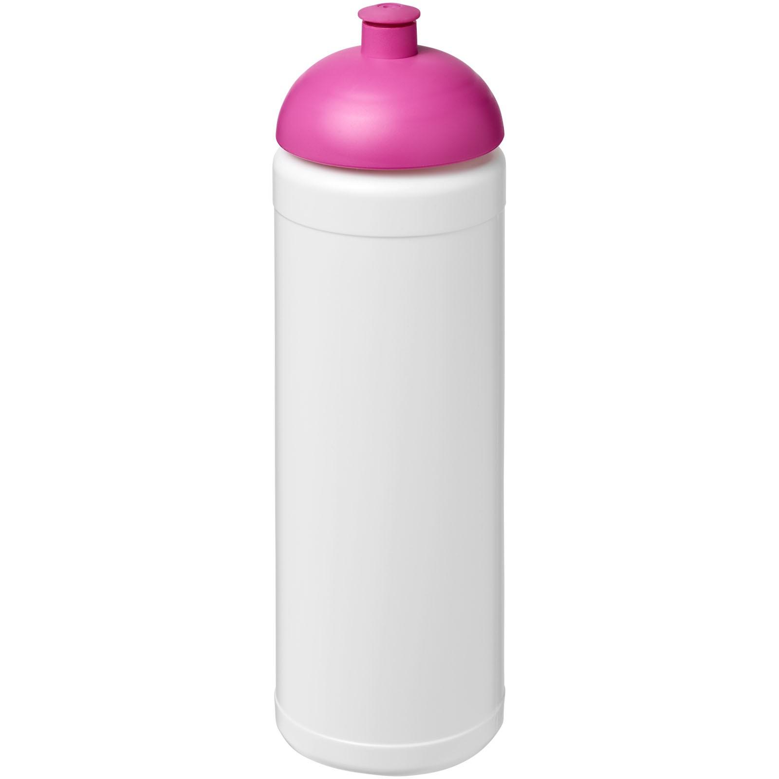 Sportovní láhev s kupolovitým víčkem Baseline® Plus 750 ml - Bílá / Růžová