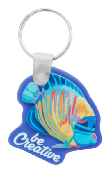 Custom Made Keyring CreaFob - Transparent Blue
