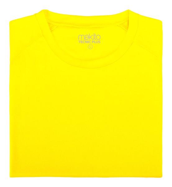 Tricou Adulți Tecnic Plus T - Galben Fluorescent / XL