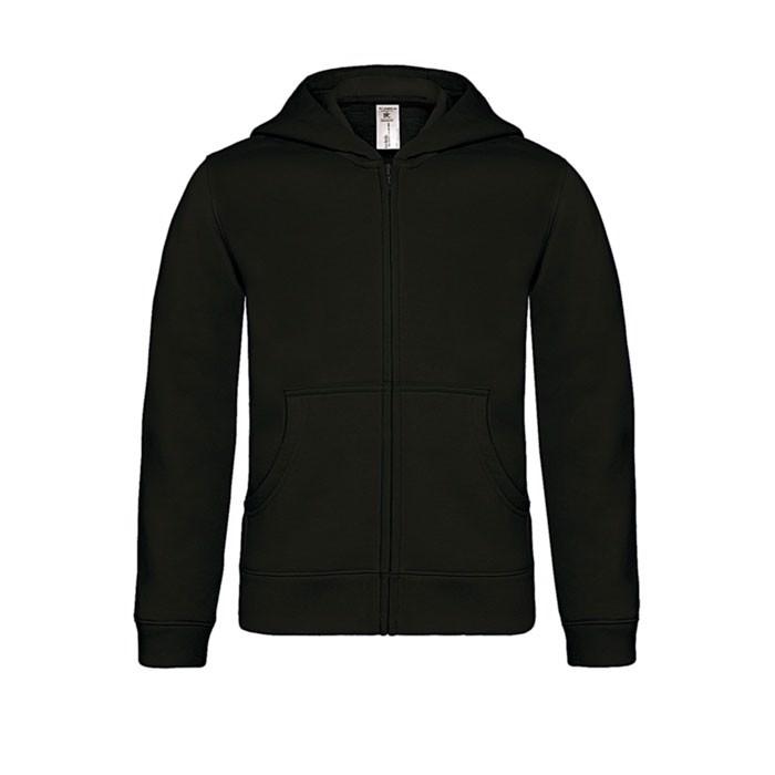 Dziecięca bluza z kapturem Sweat - Czarny / Czarny opal / XS