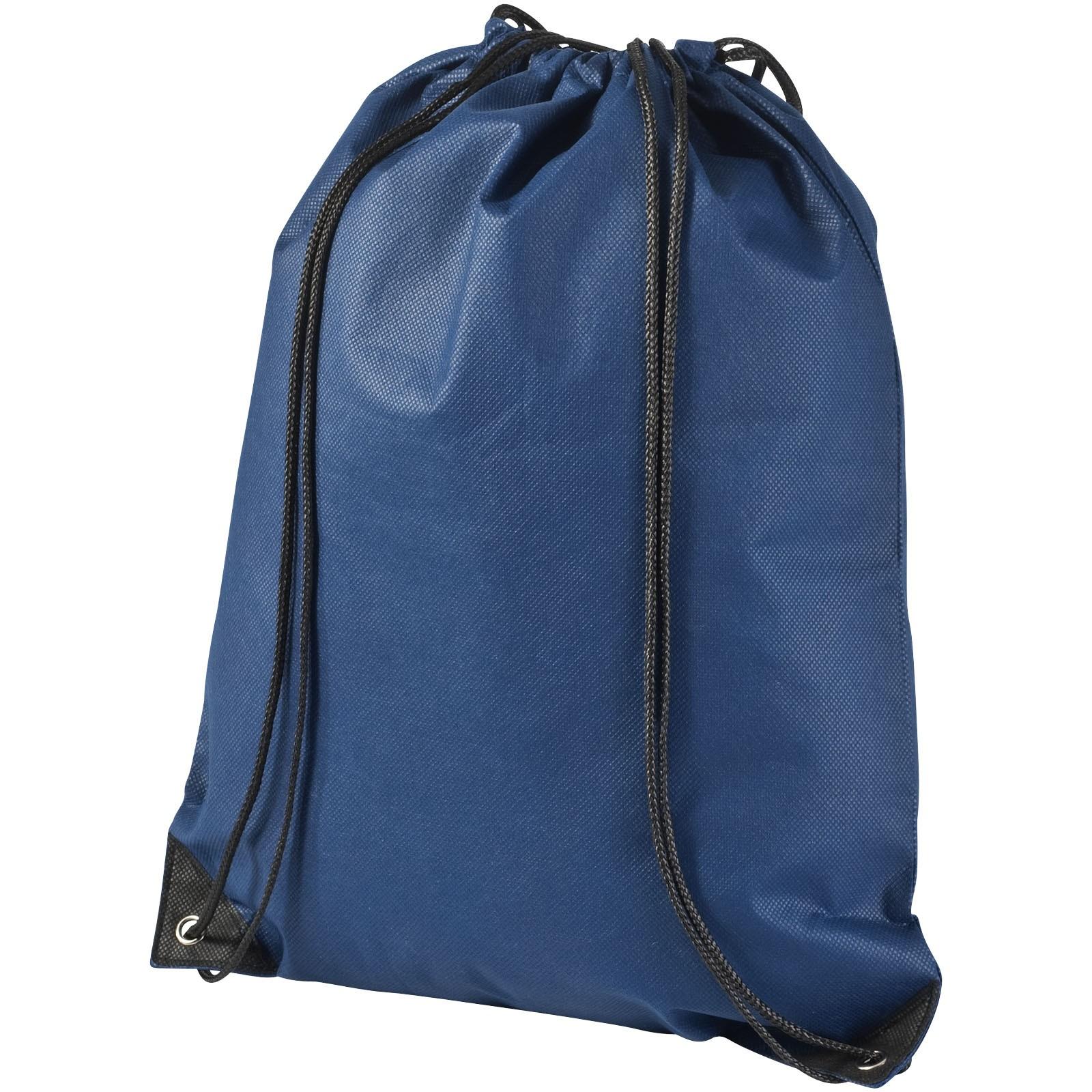 Evergreen non-woven drawstring backpack - Navy