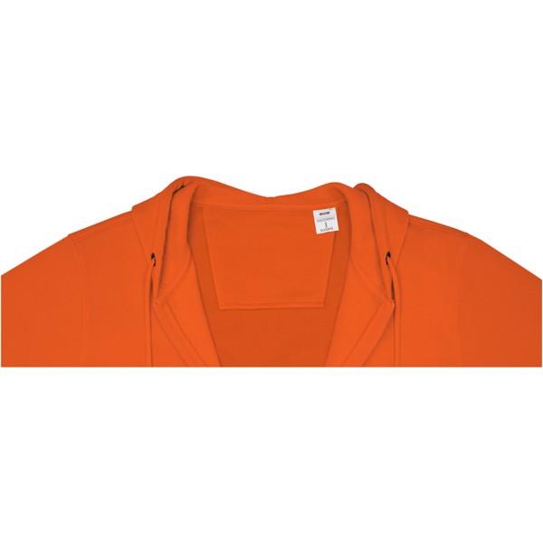 Theron men's full zip hoodie - Orange / S