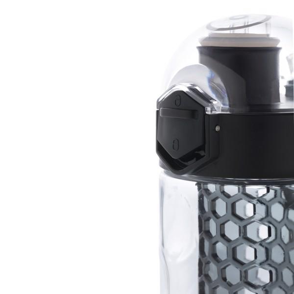 Nepropustná láhev Honeycomb s uzamykatelným víčkem - Černá