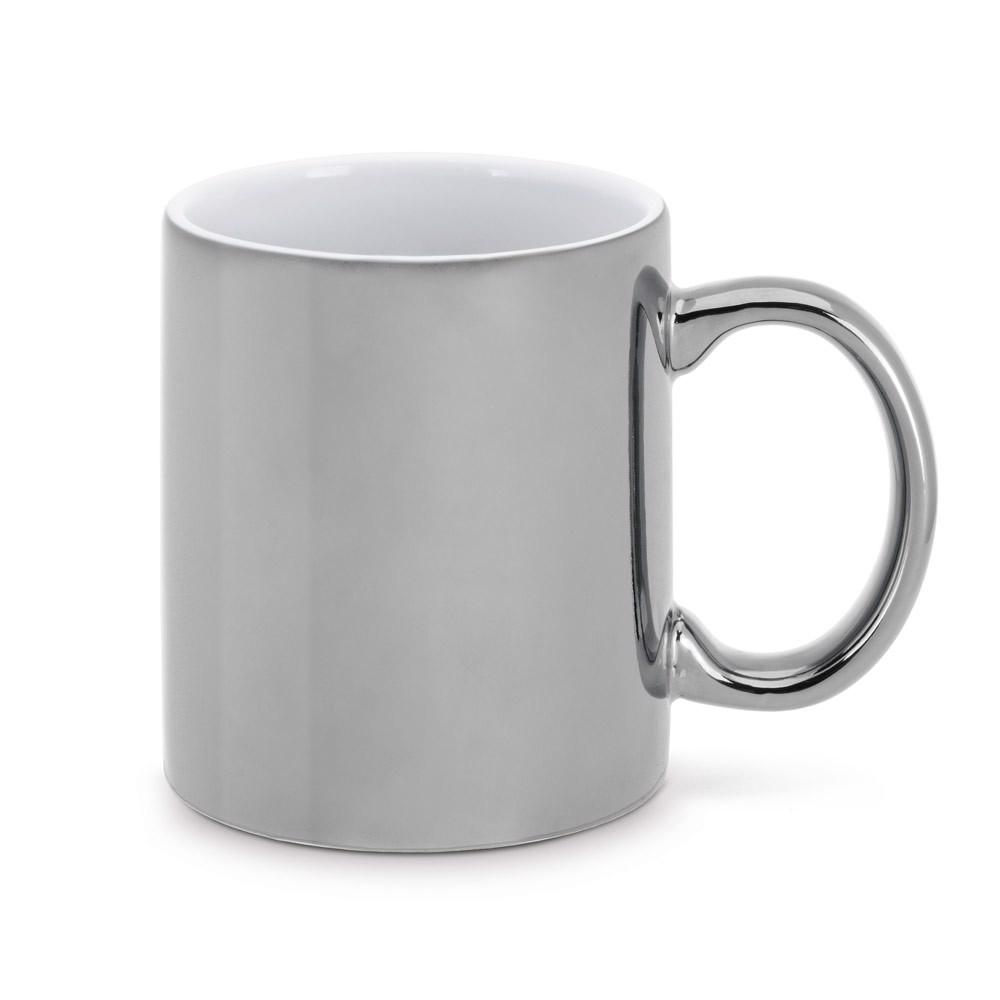 LAFFANI. Ceramic mug 350 ml - Silver