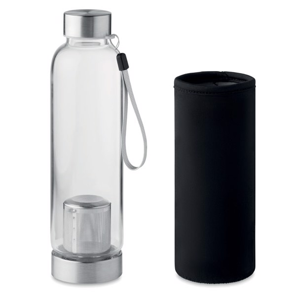 Single wall glass bottle Utah Tea