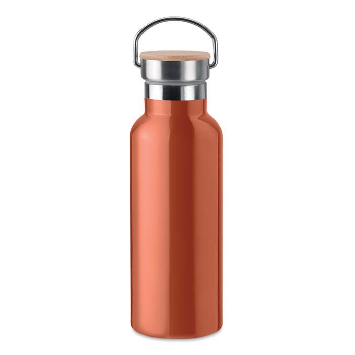 Double wall flask 500 ml Helsinki - Orange