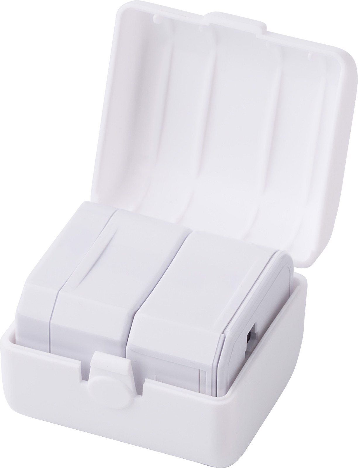 ABS travel adapter - White