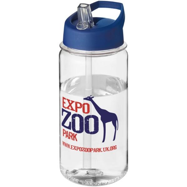 H2O Octave Tritan™ 600 ml spout lid sport bottle - Transparent / Blue