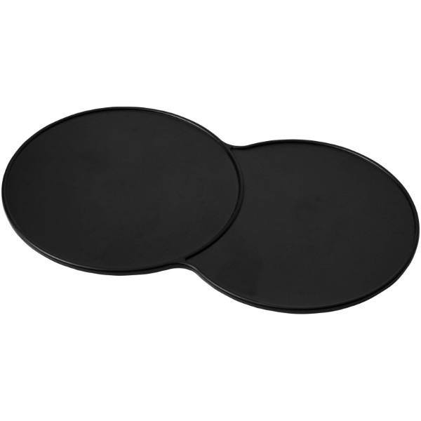 Sidekick plastic coaster - Solid black