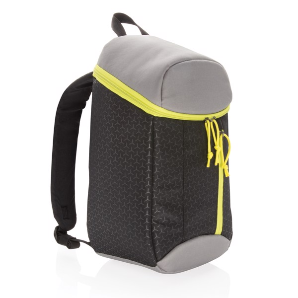 Cestovní chladící batoh 10L - Černá / Limetková