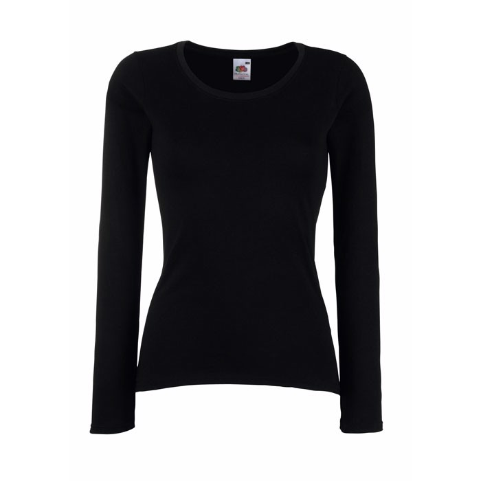 Damen T-Shirt 165 g/m² Lady-Fit Value Weight 61-404-0 - Black/Black Opal / L