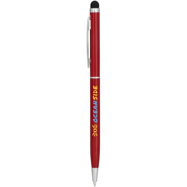 Hliníkové kuličkové pero Joyce - Červená s efektem námrazy