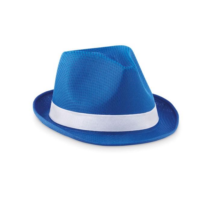Pălărie colorată din paie Woogie - royal blue