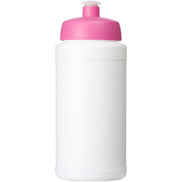 Baseline® Plus 500 ml bottle with sports lid - White / Pink