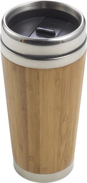 Taza termo de bambú y acero inox.
