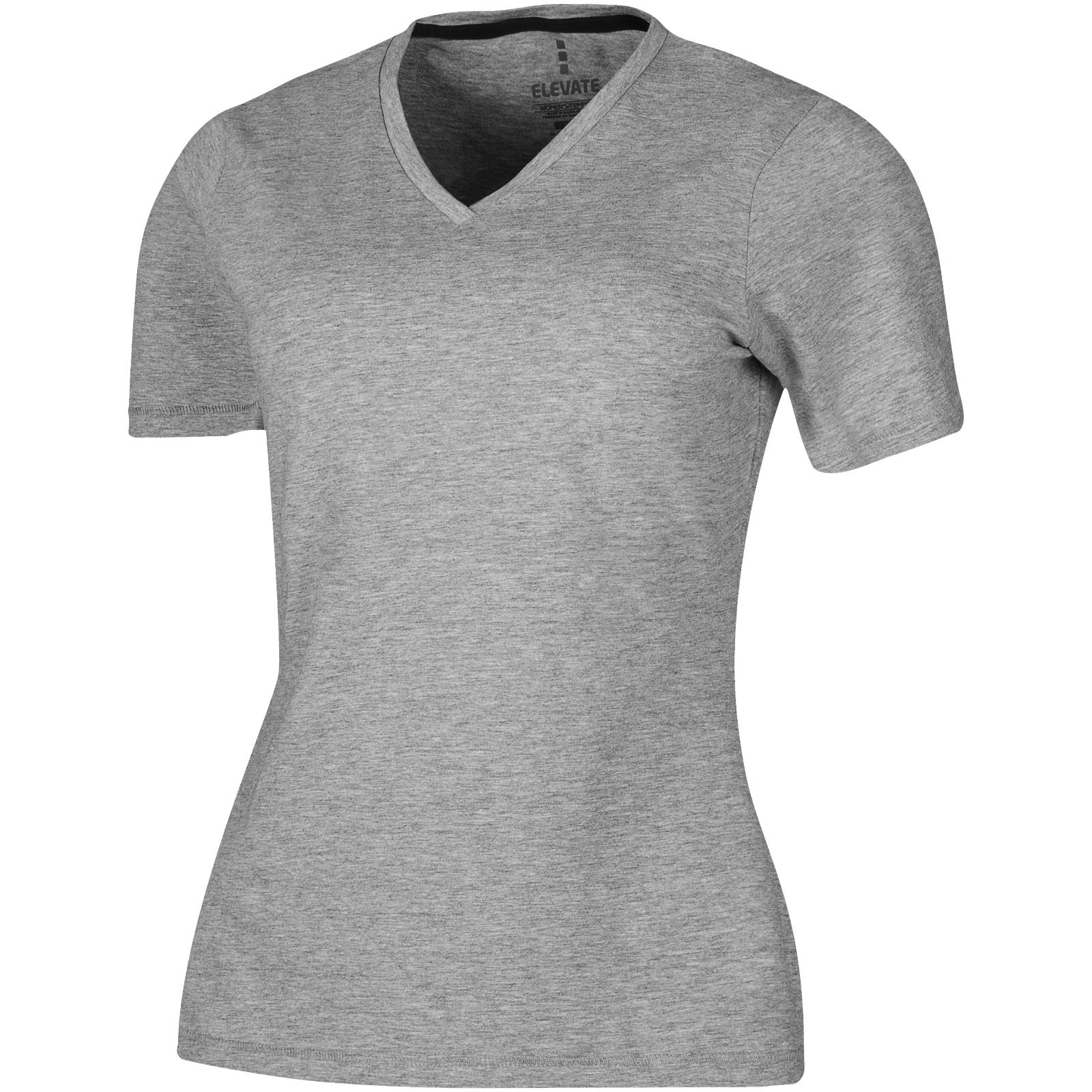 Kawartha short sleeve women's GOTS organic t-shirt - Grey melange / XL