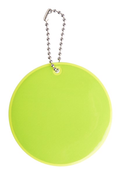 Reflective Keyring Candid - Safety Yellow