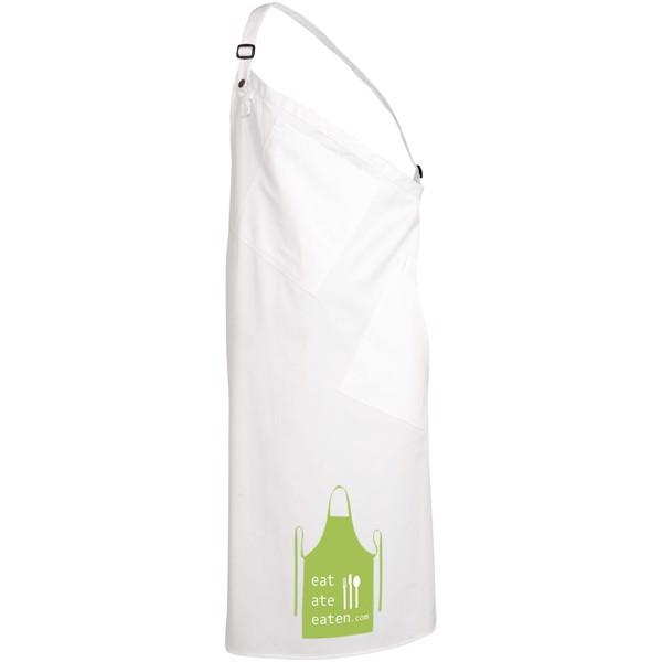 Andria asymmetric apron - White