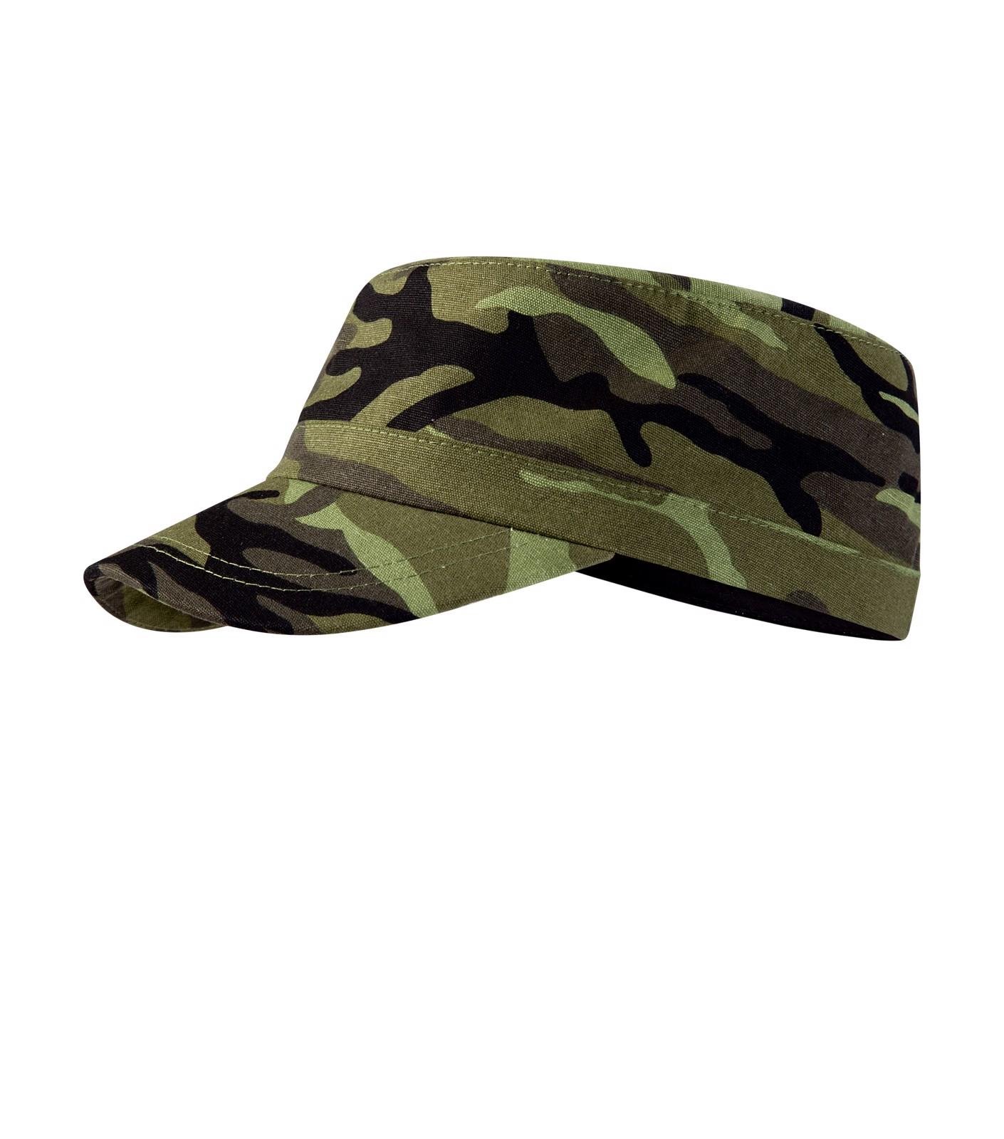 Čepice unisex Malfini Camo Latino - Camouflage Green / nastavitelná