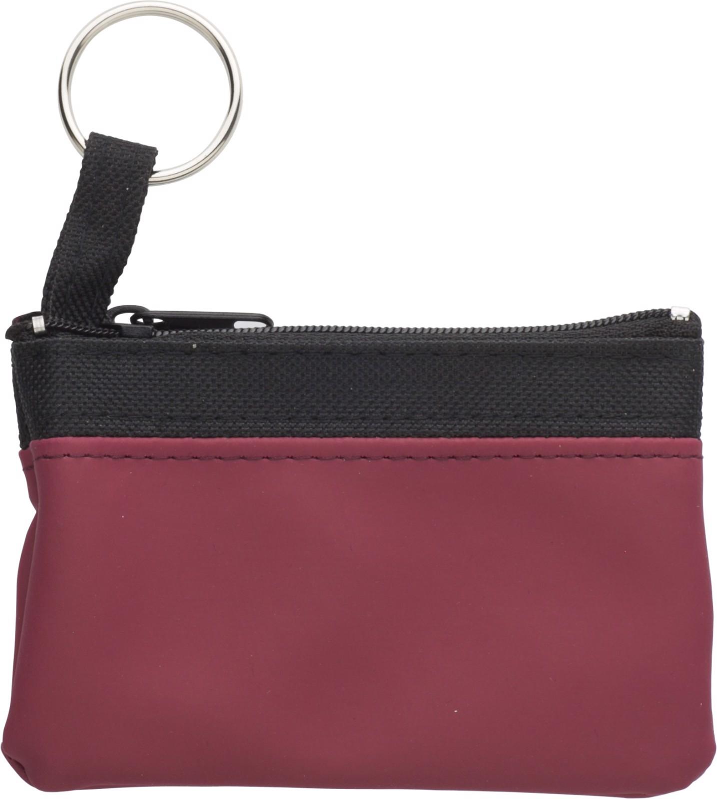 Nylon (600D) key wallet - Burgundy