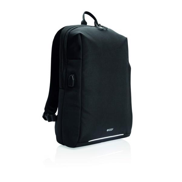 Swiss Peak RFID és USB laptop hátizsák, PVC-mentes