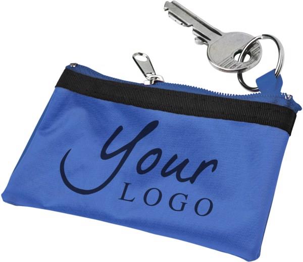 Nylon (70D) key wallet - Cobalt Blue