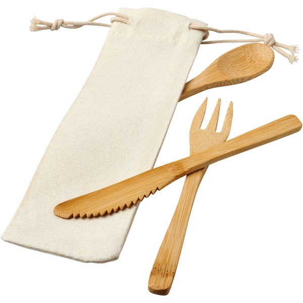 Celuk bamboo cutlery set